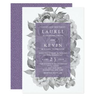 Vintage Floral Wedding Invitation | Violet