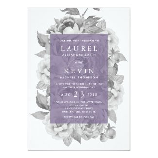 Vintage Floral Wedding Invitation | Violet