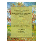 "Vintage floral  wedding invitations 5.5"" x 7.5"" invitation card"