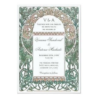 Vintage Floral Wedding Invitations I