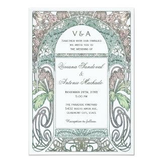 Vintage Floral Wedding Invitations IV (Purple II)