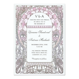 Vintage Floral Wedding Invitations V (v.2)