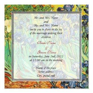 Vintage floral wedding invitations,van Gogh,Irises Card