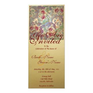 Vintage Floral Wedding Invite - 2