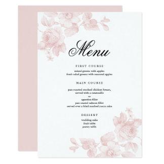 Vintage floral | Wedding menus Card