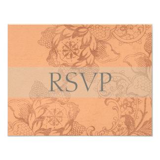 Vintage Floral Wedding RSVP Cards or Reply Cards