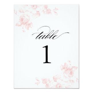 Vintage floral wedding   Table numbers