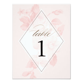 Vintage floral wedding | Table numbers 4.25x5.5 Paper Invitation Card