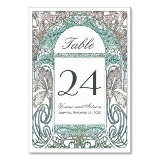 Vintage Floral Wedding Table Numbers IV (V.1)