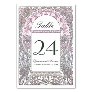 Vintage Floral Wedding Table Numbers V (v.2)