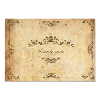 Vintage Floral Wedding Thank You Card