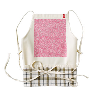 Vintage Floral White and Red Zazzle HEART Apron