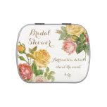 Vintage Floral Whitewash Spring Bridal Shower Jelly Belly Tins