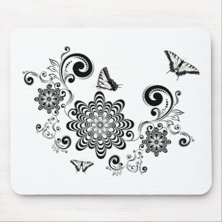 Vintage Floral with Butterflies 2 Mouse Pad