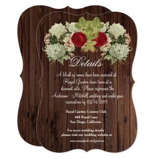Vintage Floral Wood Look Enclosure Card