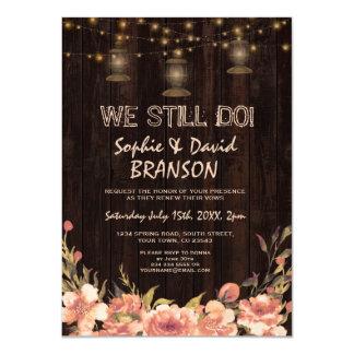 Vintage Floral Wood Old Lanterns WE STILL DO Card