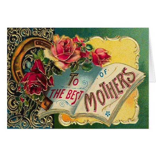 Vintage Floral World's Best Mom Card