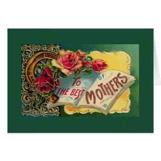 Vintage Floral World's Best Mom Greeting Cards