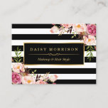 """Vintage Floral Wrapping Around Black White Stripes Business Card<br><div class=""""desc"""">Personalize a Business Card to be uniquely yours with this Vintage Floral Wrapping Around Black White Stripes template.  (1) For further customization,  please click the &quot;customize further&quot; link and use our design tool to modify this template.  (2) If you need help or matching items,  please contact me.</div>"""
