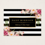 "Vintage Floral Wrapping Around Black White Stripes Business Card<br><div class=""desc"">Personalize a Business Card to be uniquely yours with this Vintage Floral Wrapping Around Black White Stripes template. (1) For further customization, please click the &quot;Customize&quot; button and use our design tool to modify this template. All text style, colors, sizes can be modified to fit your needs. (2) If you...</div>"