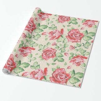 Vintage Floral Gift Wrap