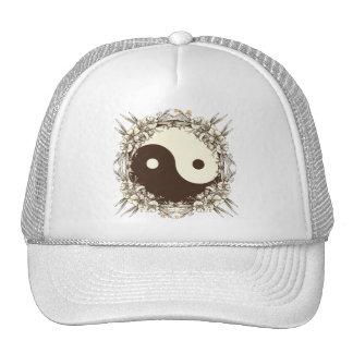 Vintage Floral Yin Yang Trucker Hats