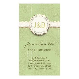 Vintage Floral Yoga instructor Business Card