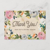 Vintage Florals | Bridal Shower Flat Thank You