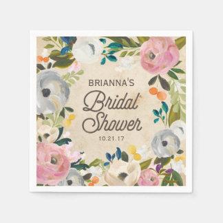 Vintage Florals | Bridal Shower Napkins