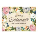 Vintage Florals | Bridesmaid 5x7 Paper Invitation Card