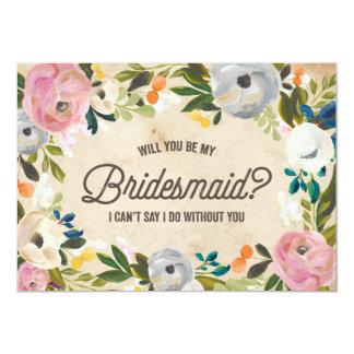 Vintage Florals | Bridesmaid Card