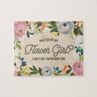 Vintage Florals   Flower Girl Puzzle