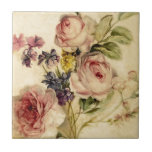 "Vintage Florals from 18th Century Ceramic Tile<br><div class=""desc"">This is a beautiful floral ensemble from the 18th Century (painter unknown).  I love the composition of this arrangement,  and while I did some cleaning up,  I still tried to keep the vintage feel of the painting.  Enjoy!!</div>"