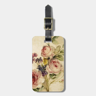 Vintage Florals from 18th Century Luggage Tag