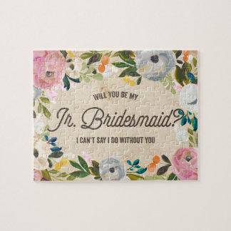 Vintage Florals   Junior Bridesmaid Puzzle