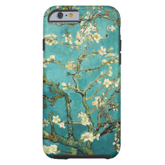 Vintage floreciente Van Gogh floral del árbol de Funda Para iPhone 6 Tough
