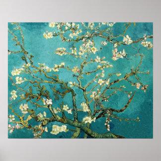 Vintage floreciente Van Gogh floral del árbol de Póster