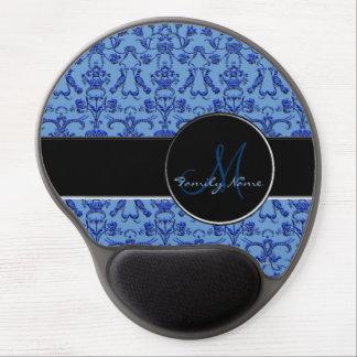 Vintage Florentine Damask (Blue) Gel Mouse Pad