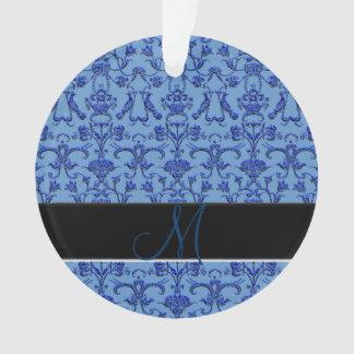 Vintage Florentine Damask (Blue) Ornament