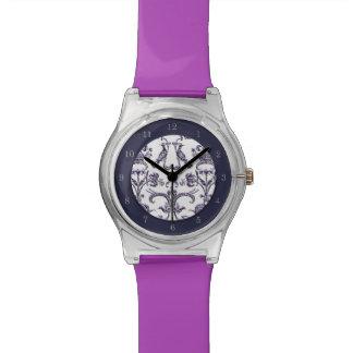 Vintage Florentine Damask (Lilac) Wristwatch