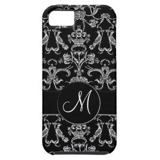 Vintage Florentine Damask (Monogram) (White) iPhone SE/5/5s Case