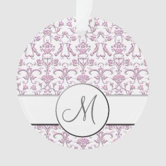 Vintage Florentine Damask (Pink) (Monogram)