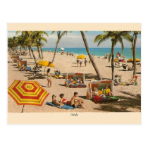 Vintage Florida Beach Travel Post Card