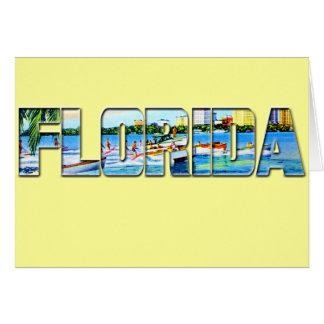 Vintage Florida Card