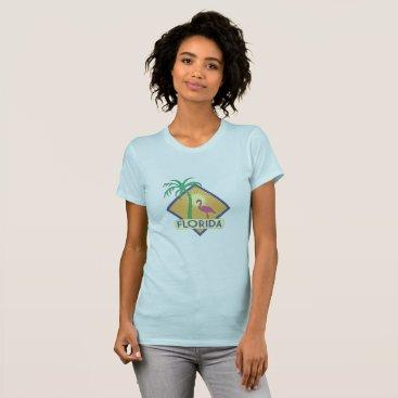 Beach Themed Vintage Florida Deco T-Shirt