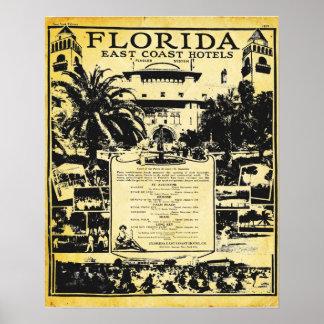 Vintage Florida East Coast Hotels Print