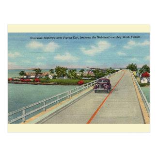 Vintage Florida Keys Highway Postcard
