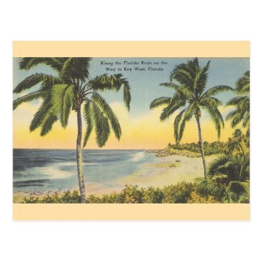 RetroMagicShop Vintage Florida Keys to Key West Travel Postcard