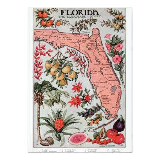 Vintage Florida Map 4.5x6.25 Paper Invitation Card