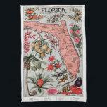 """Vintage Florida Map Hand Towel<br><div class=""""desc"""">Vintage style Florida state</div>"""